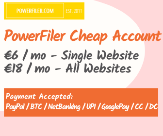 buy powerfiler account for €18/mo or €6/mo